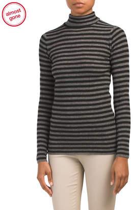 Skinny Rib Turtleneck Cashmere Sweater