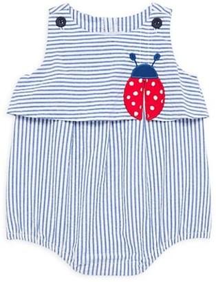 Florence Eiseman Baby Girl's Ladybug Striped Seersucker Romper