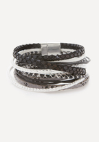 Bebe Snake Print Wrap Bracelet