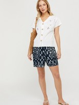 Monsoon Carlotta Organic Cotton Shirt - White
