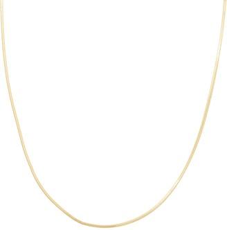Primavera 24k Gold Over Silver Snake Chain Necklace