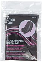 Salon Care Reusable Black Small Latex Gloves