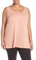 Eileen Fisher Plus Size Women's Silk Jersey Scoop Neck Tunic