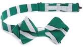 Nordstrom Stripe Cotton & Silk Pointed Bow Tie (Big Boys)