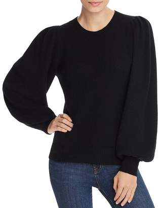Aqua Puff-Sleeve Cashmere Sweater - 100% Exclusive