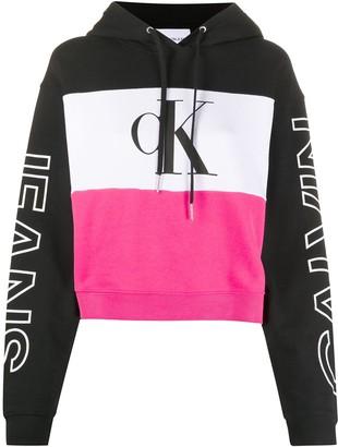 Calvin Klein Jeans Colour-Block Hooded Sweatshirt