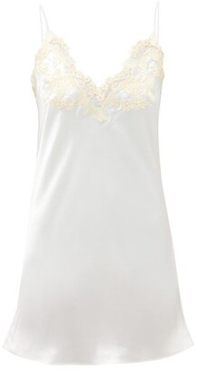 La Perla Maison Embroidered Silk-satin Nightdress - Ivory