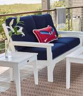 L.L. Bean L.L.Bean All-Weather Patio Settee with Navy Cushion