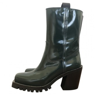 Louis Vuitton Green Leather Ankle boots
