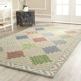 Martha Stewart Patchwork Pewter Grey Wool Rug (4' X 6')