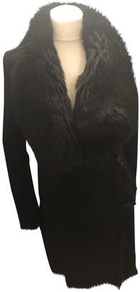 AllSaints Black Shearling Coat for Women