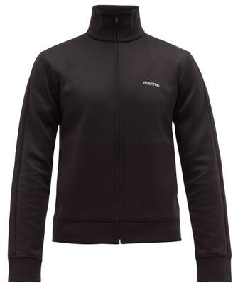 Valentino Logo-print Zip-through Track Jacket - Mens - Black