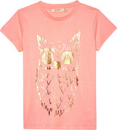 SOFT GALLERY Foil owl short-sleeved T-shirt 4-14 years