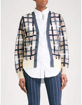 Toga Checked knitted cardigan