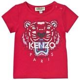Kenzo Hot Pink Tiger Print Tee