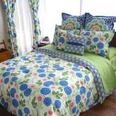 Amy Butler by Welspun Kyoto Reversible Full/Queen Duvet Cover in Blue/Green