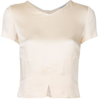 Chanel Pre Owned 1998 Short-Sleeved Cropped Blouse