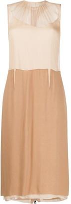No.21 Sheer Panel Dress