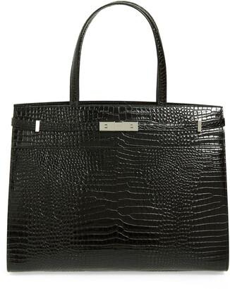 Saint Laurent Medium Manhattan Calfskin Leather Satchel