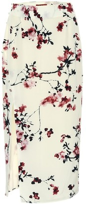 Altuzarra Edmund floral silk pencil skirt