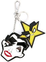 DSQUARED2 'Punk' star dual keyring - women - Cotton/Leather/Polyester/Zamak - One Size