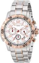 Invicta Men's Signature Collection Rose Gold Tone Sport Ceramic Dial Chronograph Date Watch 7197