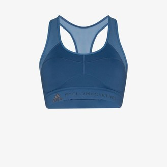 adidas Womens Blue X Stella Mccartney Ess Sports Bra