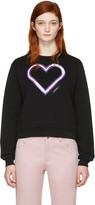 Carven Black Neon Heart Pullover