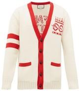 Gucci Far Better Not Slogan-jacquard Wool Cardigan - Mens - Red White