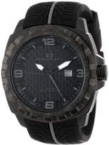 Oceanaut Men's OC1113 Racer Analog Stainless Steel Watch with Tire-Tread Strap