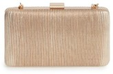 La Regale Pleated Box Clutch - Metallic