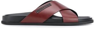 Dolce & Gabbana crossover strap sandals