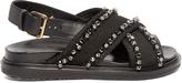 Marni Fussbett crystal-embellished canvas sandals