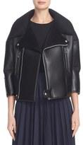Junya Watanabe Women's Crop Moto Faux Leather Jacket
