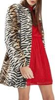 Topshop Women's Tiger Faux Fur Coat