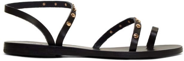 Ancient Greek Sandals Black Apli Eleftheria Nails Sandals