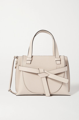 Loewe Gate Mini Textured-leather Tote - Off-white