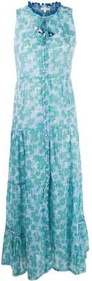 Poupette St Barth Floral And Stripe Print Dress
