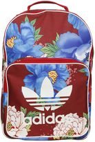 Flower Printed Nylon Backpack