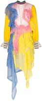 Duran Lantink asymmetric sheer ruffle dress