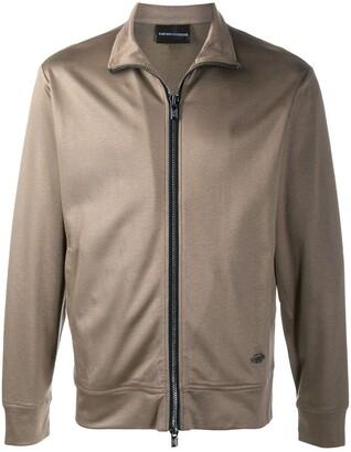 Emporio Armani High-Neck Cotton Track Jacket