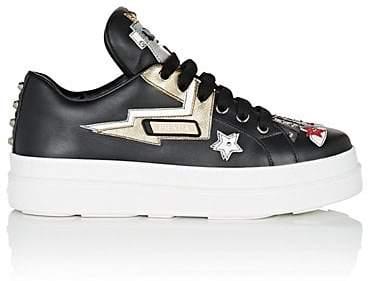 Prada Women's Robot Leather Platform Sneakers - Black