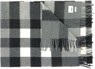 Burberry Checked Fringe Detail Scarf