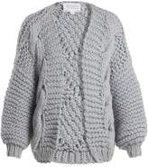 I LOVE MR MITTENS Diamond-knit wool cardigan