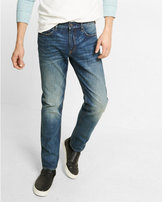 Express slim leg slim fit dark wash jean