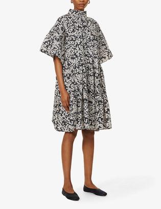 Merlette New York Astell floral-print cotton mini dress
