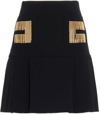 Elisabetta Franchi Logo Embroidered Mini Skirt