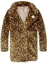 Scotch & Soda R'Belle Girl's Pelzimitat Leopard Coat