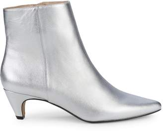 Pure Navy Elda Metallic Ankle Boots