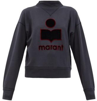 Etoile Isabel Marant Moby Embroidered-logo Cotton-blend Sweatshirt - Black